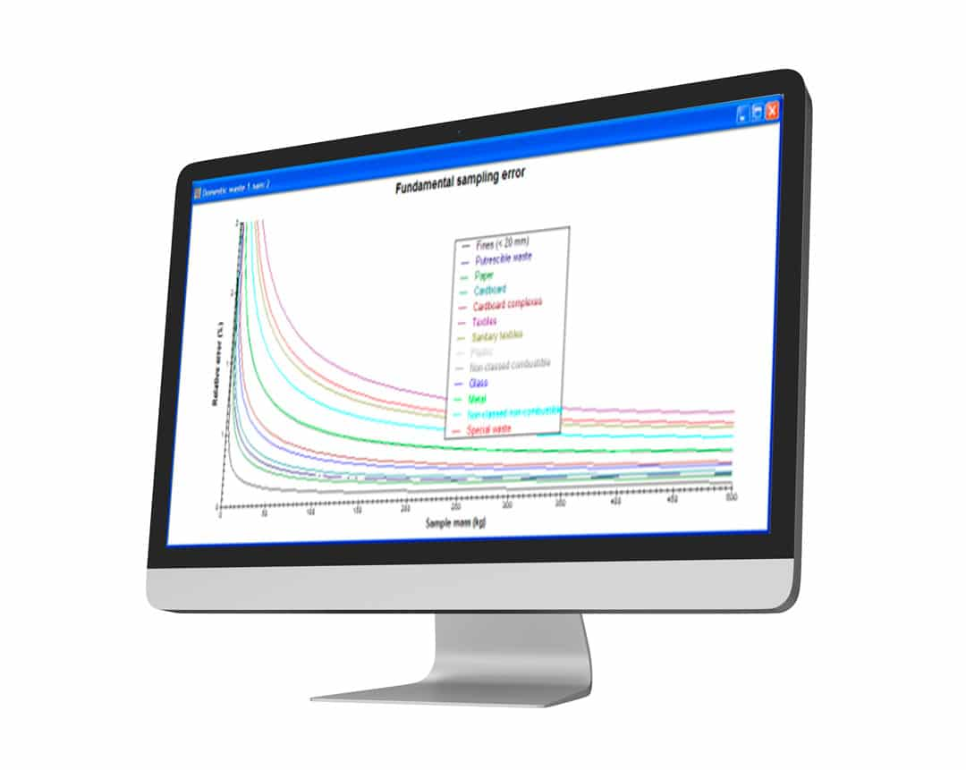 Sampling nomogram with ECHANT software