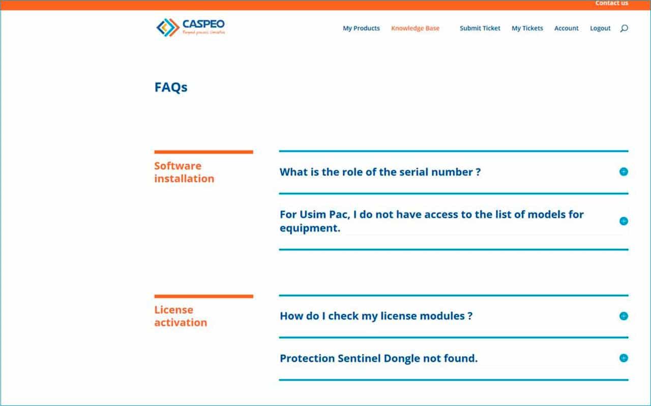 Support du portail CASPEO